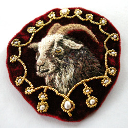 art, adrianmartin:   regal goat appliqué by f. bearclaw on Flickr. Fiona Bearclaw makes all the best stuff.