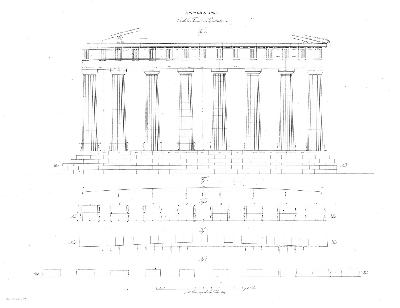 the construction of the parthenon Construction of the parthenon the parthenon is basically a doirc temple with eight rows of doric columns along the back and front of the building, and seventeen.