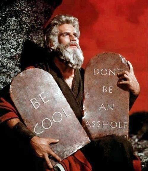 tastefullyoffensive:  The Two Commandments