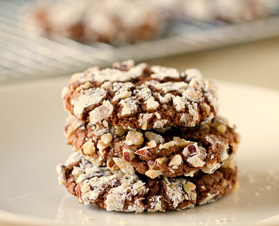 Nutella-Hazelnut Cookies by Brown Eyed Baker on Flickr.