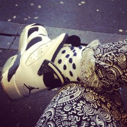 Monochrome all day #nike #airjordan #jumpman #jordan6 #oreo #monki #polkadot #crepcheck #igsneakercommunity #sfbk #smallfeetbigkicks #chicksinkicks
