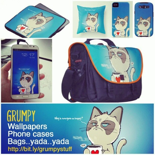 Grumpy cat wallpapers, phone cases, bags yada yada are now available. http://www.creo-labs.com/grumpy.htm  #doodle #doodleart #sketch #drawing #art #design #illustration #grumpy #cat #grumpycat #iphone #ipad #samsung #galaxynote #bags #tshirts #wallpapers