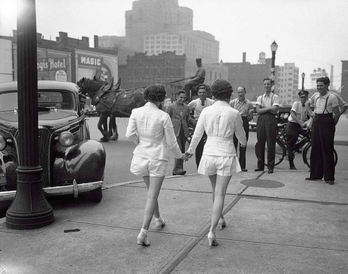 kateoplis:  Women in shorts cause crash, 1937 And the world was never the same.
