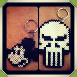 #MickeyMouse - #PunisherSkull #perlerbeads #skull #punisher #crafts #disney #blacknwhite