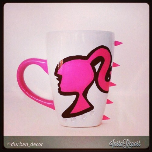 ishidashi-jenn:  Way too cute! Love it much. <3 #mug #pink #handpainted #punk #lady