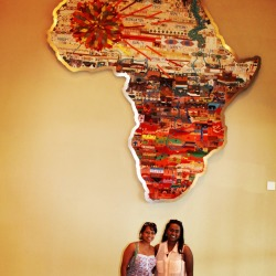 Dreams for Africa beaded map- an income generation project lead by Hillcrest AIDS Centre and completed by women in the Valley of A 1000 Hills. The map is currently displayed in Moses Mabhida Stadium!