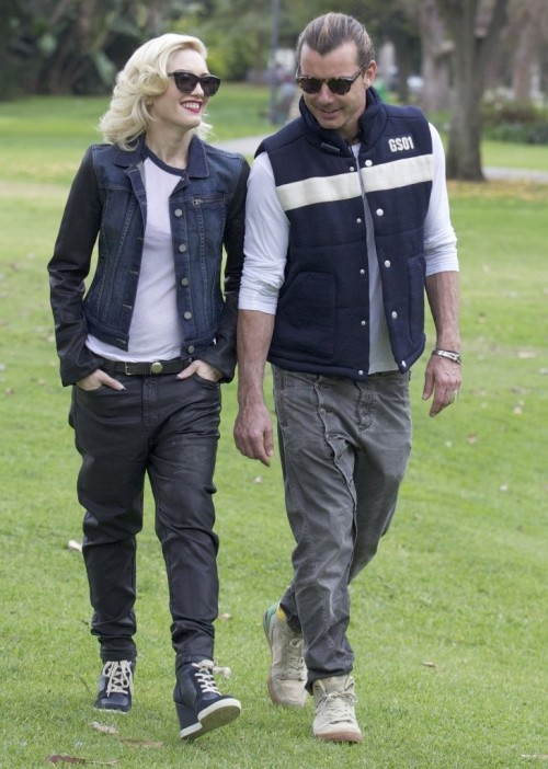 Gwen Stefani takes boys to the park in Bel Air, CA, 2nd February 2013.