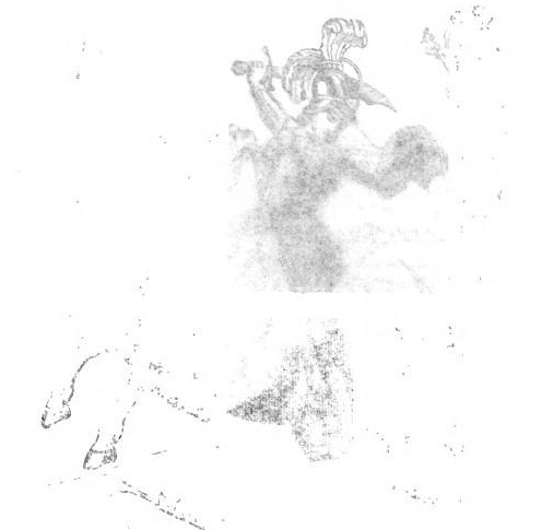 Frontispiece photographed through tissue. From The Book of Legends Told Over Again by Horace Elisha Scudder (1889). Original from the University of California. Digitized November 29, 2007.