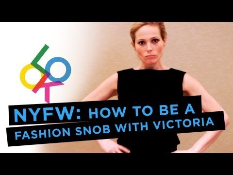 HOW TO BE A FASHION SNOB WITH VICTORIA FLOETHEby Look TV http://bit.ly/131OnY3