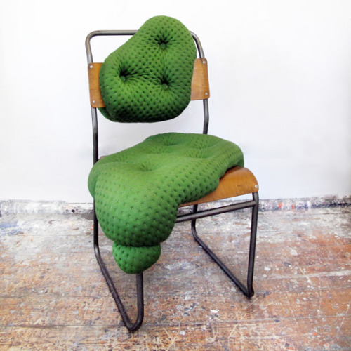 Charlotte Kingsnorth - Hybreed Chair (Emerald Tufted Upholstery)
