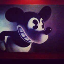 Mickey. #photography #painting #mickeymouse #luckystrike #chicago  (at Lucky Strike Lanes)