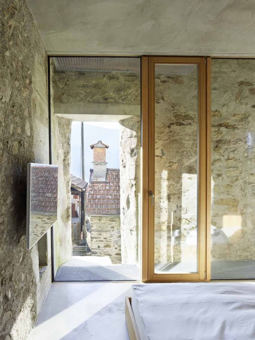 archatlas:Scaiano Stone House Transformation Switzerland Wespi de Meuron Romeo architects