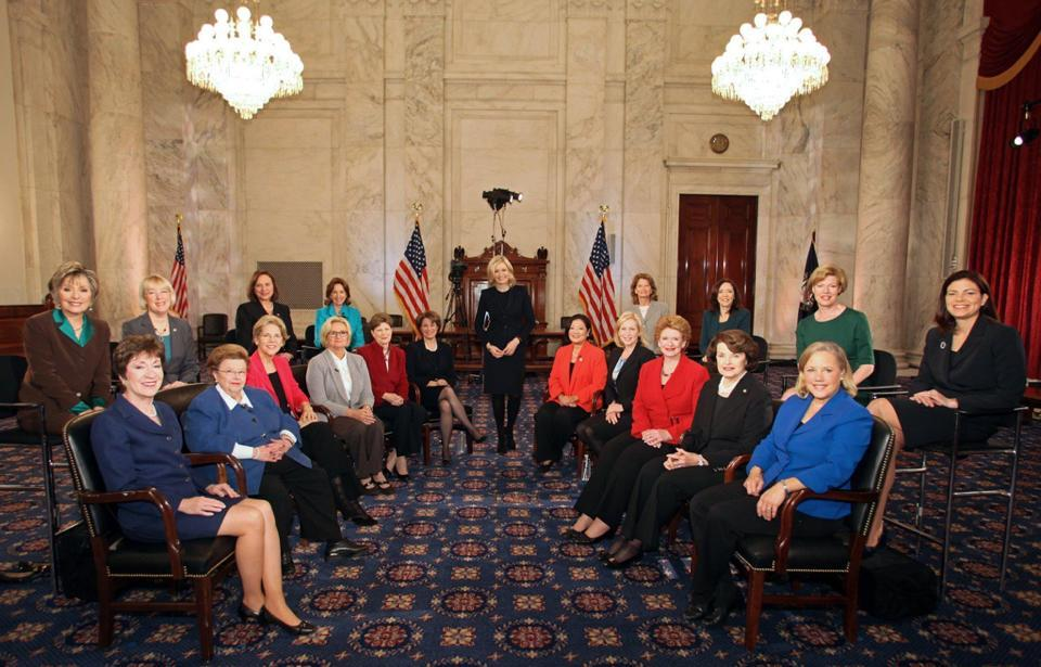 think-progress:  Meet the Senate's new women caucus.