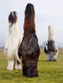 Bulgarian men in Babugeri costumes.