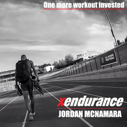 Jordan McNamara finishing up another hard training day. #clinicallyproven #xendurance #niketrack #1500 #miler #thinkfast