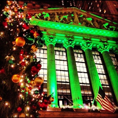 Merry fucking Christmas, from the NY Stock Exchange, December 2012