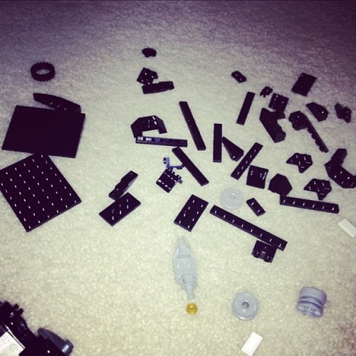 "kj52:  Legos are the equivalent of going to a restaurant & them handing u eggs/sugar/milk & saying ""enjoy your cake!""  Amen. It's not even 930 and I'm injured myself on Legos. Twice."