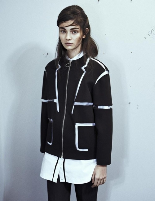 "pradafied:  ""New School"", Antonina Vasylchenko by Sebastian Kim for Intermission Magazine #7"