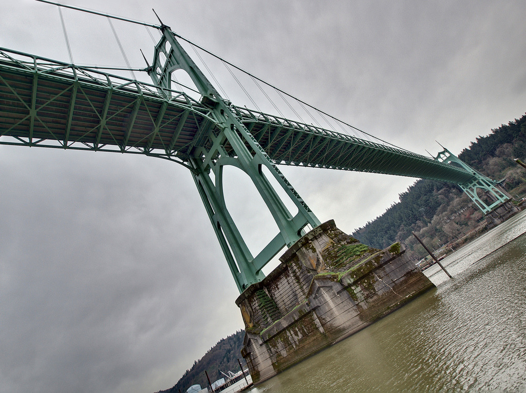 St Johns Bridge 3 by D.H. Parks http://flic.kr/p/94BmJv