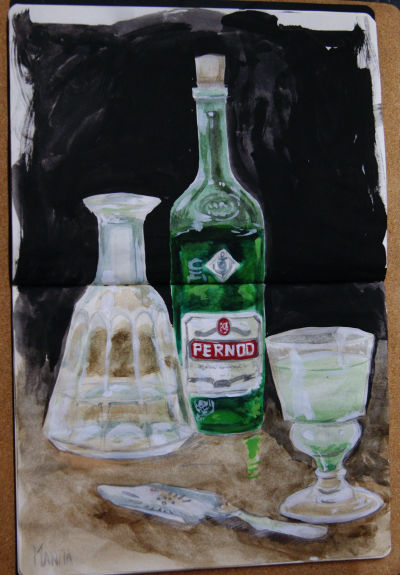 Pernod color study by Mantia
