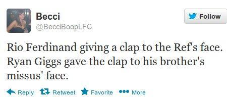 sucka99:  Tweet of the night  hahah a  liverpool supporter talking about man united #typical worry about your europa league and getting to fourth place please. fuck right off