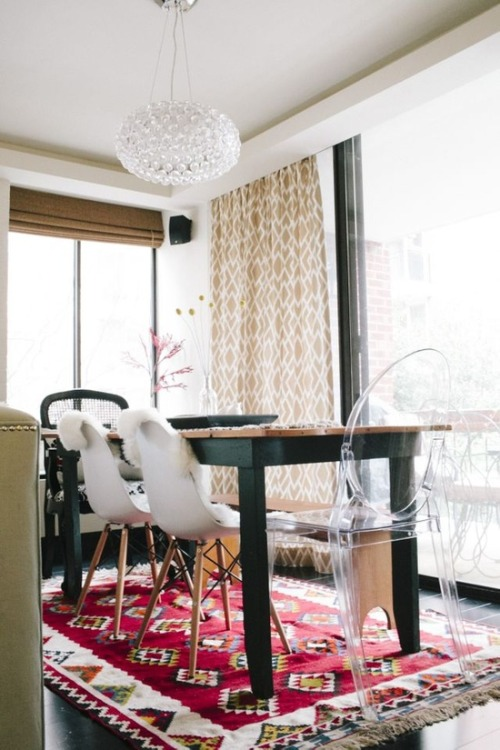 Sara Azani's DC Home Tour - don't you love the mixed chairs?