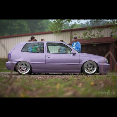 timboass:  Had to steal this one from @zakdepiero #purplemk3 #vw #mk3 #slawbuilt  lol this car