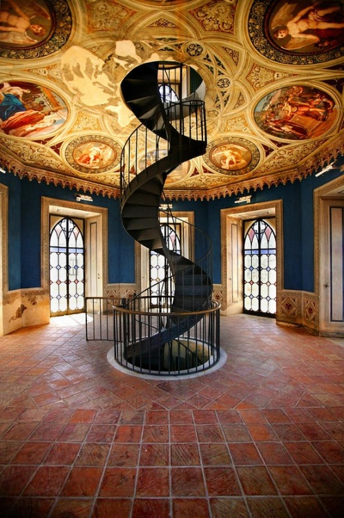 Spiral Staircase, Umbria, Italy photo via diane