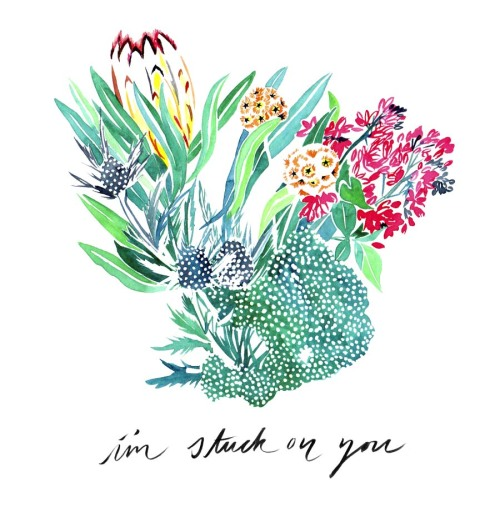 watercolor illustration floral illustration flower illustration nature illustration Bouquet bouquet flowers Typography