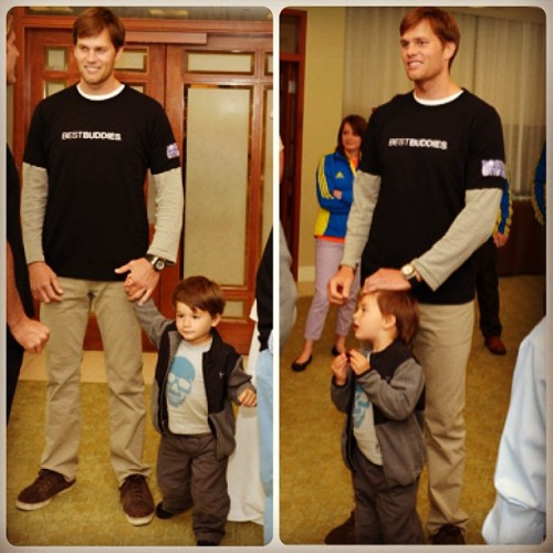 #tombrady and #benjaminbrady at #bestbuddies event in #boston @giseleofficial #giselebundchen #celebritybabies