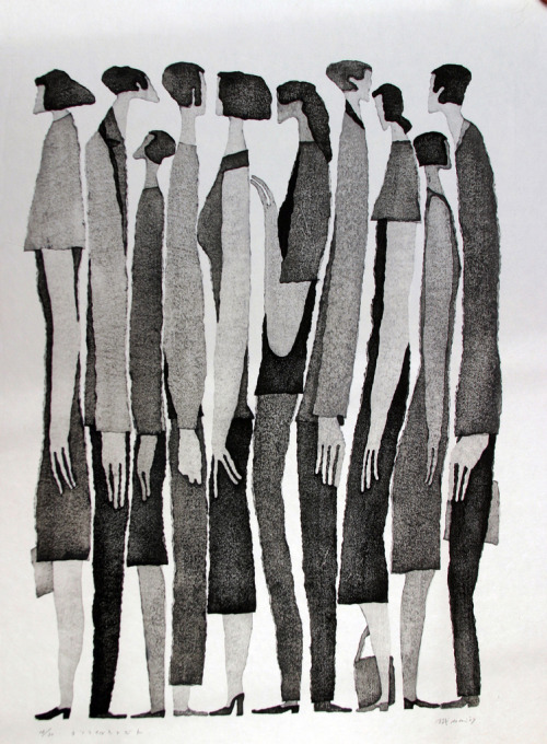red-lipstick:  Aoki Tetsuo (Japanese) - People Standing, 2007       Drawings