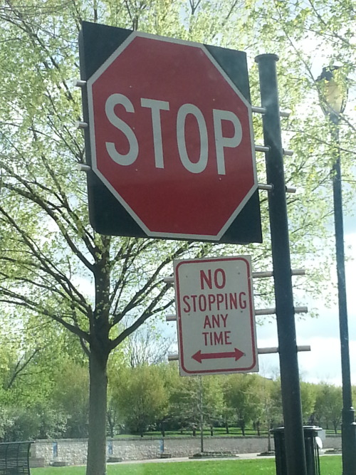 To stop or not to stop.