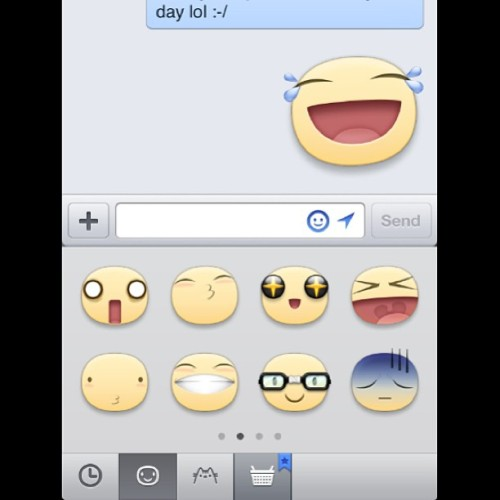 Why is #Facebook #Emoticons so big???😳… And this is the first time I'm seeing them too!😂 #big #massive #giant #fb #face #messenger #funny