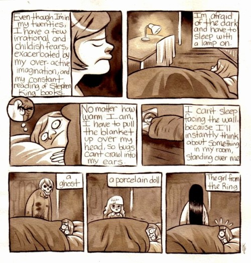moosekleenex:  night fears!  i do the blanket thing too, I'm afraid my throat will shrivel up and i'll die if my room is too dry. @~@;