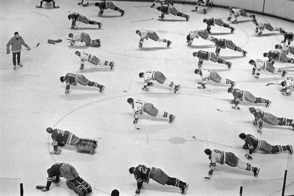 ughpsh:  Rangers training camp in Ontario, 1966
