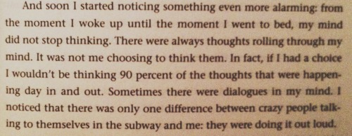 forever:  favorite paragraph out of the entire book