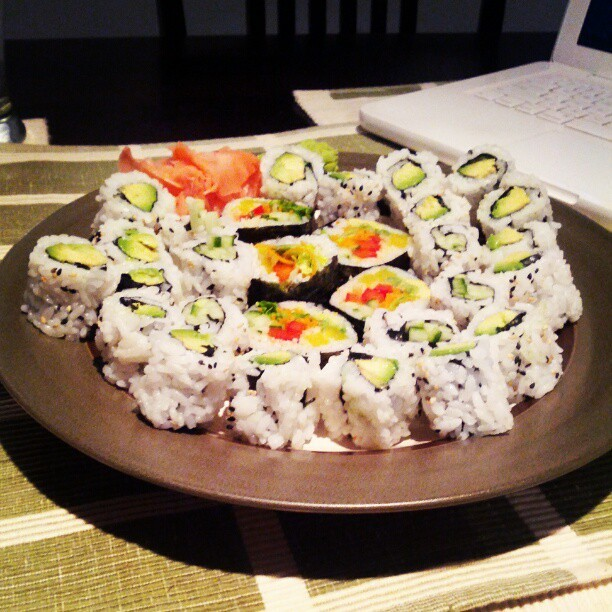 #Vegan #Sushi feast!