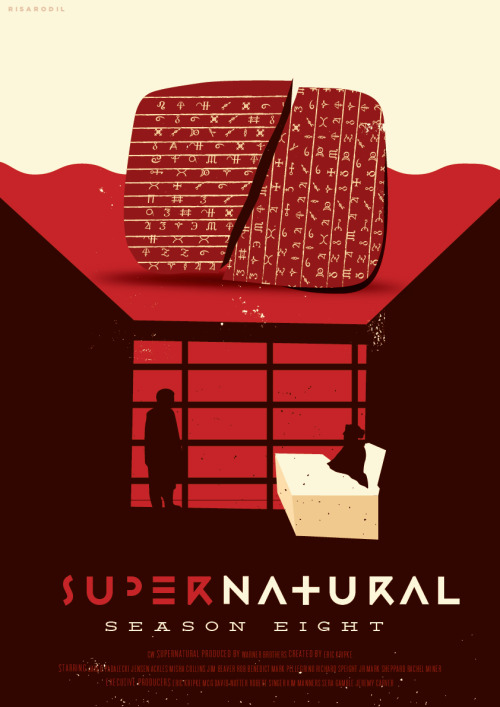 risarodil:  Supernatural Reimagined Posters for Seasons 1 - 8 Probably the hardest, yet the most enjoyable set I created so far. Available here