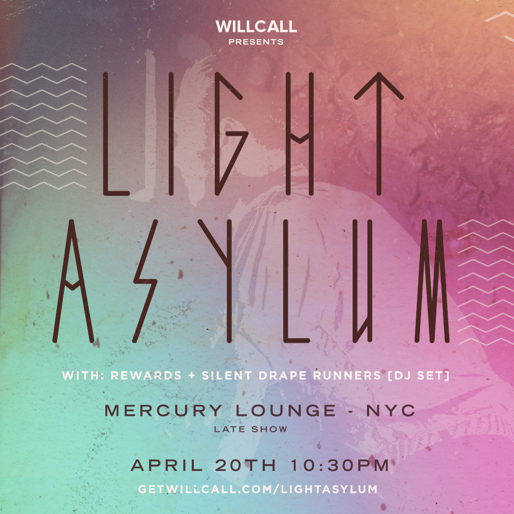Oh, hullo: we're DJing supporting Light Asylum on 4/20. IF YOU DO NOT GET YOUR TICKETS NOW YOU WILL MISS OUT. #likeastorm