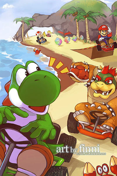 suppermariobroth:  Mario Kart 64 by *finni