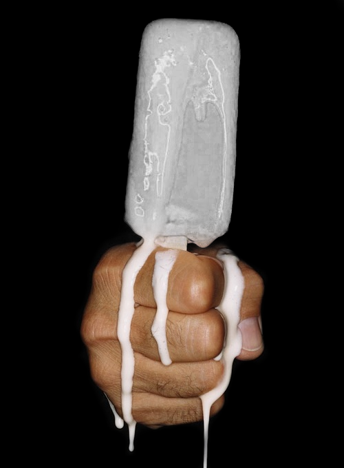totallytransparent:  Semi Transparent Ice Cream (lolly matches colour of your blog - drag it!)Made by Totally Transparent