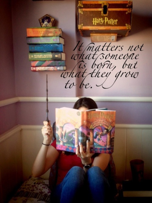 "booksdirect:  ""It matters not what someone is born, but what they grow to be."" - Harry Potter and the Goblet of Fire by J. K. Rowling"