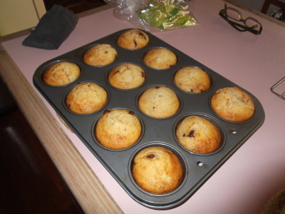 Some muffins I made to use up bananas going old :)