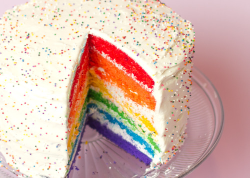 rainbow cake: recipe here