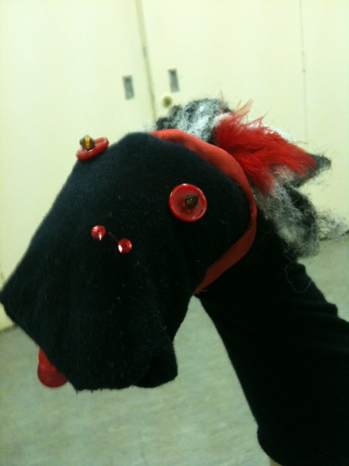 Tallulah the Showgirl Sock Puppet Sometimes they let me into youth groups, and stuff like this happens.