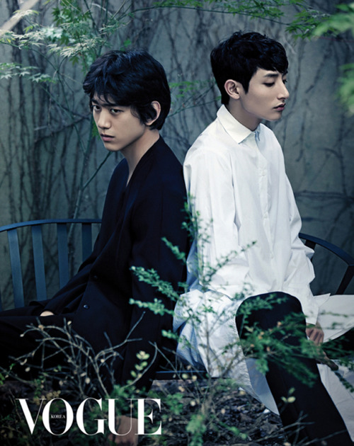 fyeahkidolfashion:  Sung Joon and Lee Soo Hyuk for Vogue Korea   <3