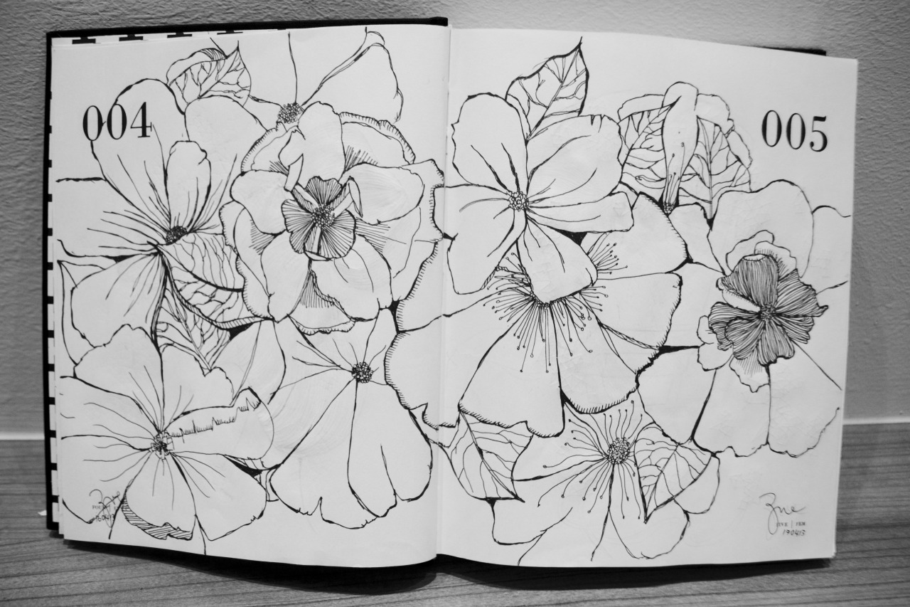zymluv:  Floral Studies, Day 004 x Day 005; Close-up.