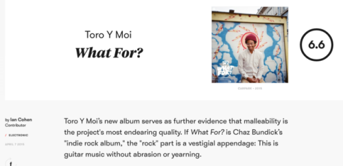 Toro Y Moi What For? chaz bundick indie rock chillwave what for