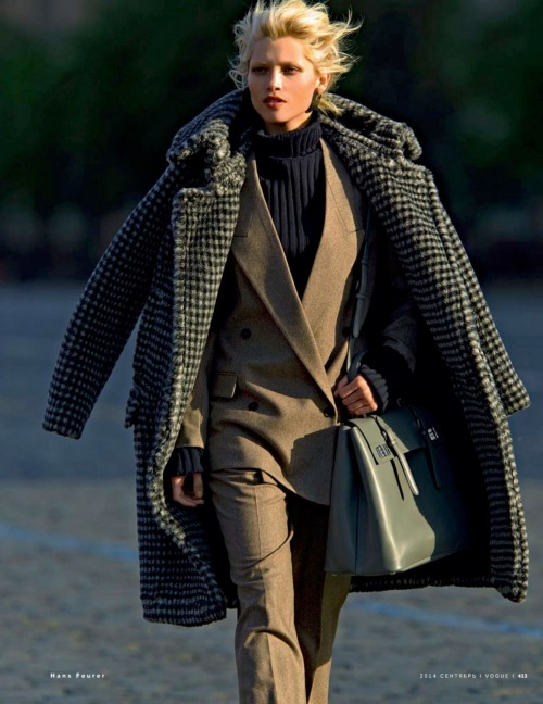 leahcultice:  Hana Jirickova by Hans Feurer for Vogue Russia September 2014