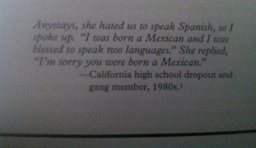 "esakrazie21:  Came across this today as I was reading ""Latinos in the making of the united states"" by James D. Cockcroft. An its an HONOR for me to say SOY CHICANA/O."